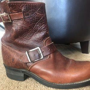 Vintage Frye Moto Boots- Redwood